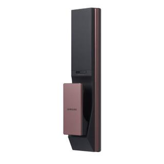 三星(SAMSUNG)指纹锁家用智能门锁防盗密码锁智能家居电子锁 换代升级款  SHP-DP738 咖啡棕 外开门版