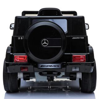 贝瑞佳 BeRica 奔驰黑色真车授权车儿童电动车四轮摇摆遥控婴儿小孩玩具车可坐人宝宝童车汽车