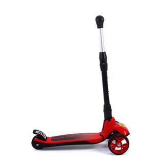 法拉利(Ferrari)儿童滑板车玩具车可折叠升降四轮闪光3-12岁脚踏车摇摆车FXK58红色