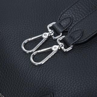 COCCINELLE 可奇奈尔 牛皮荔枝女士纹手提单肩包 E1 BP1 18 01 01 001黑色