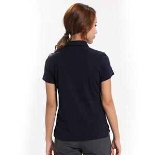 Surefire 神火 T恤POLO衫 男女 19年春夏新款休闲棉感弹力商务短袖 Y020014 藏蓝色-女款 M