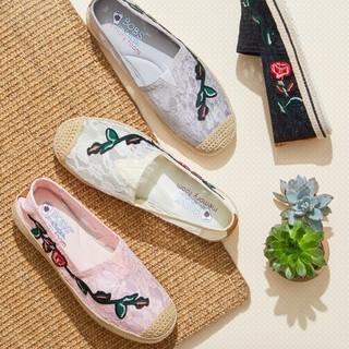 SKECHERS 斯凯奇 66666190 女士蕾丝刺绣单鞋