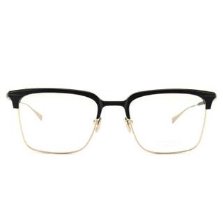 MASUNAGA增永眼镜男女复古全框眼镜架配镜近视光学镜架WALDORF #29 黑眉金架