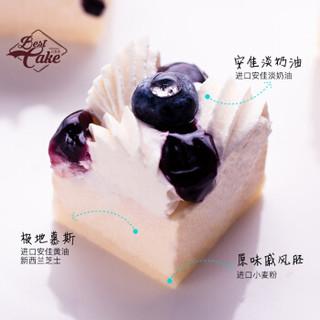 贝思客 莱茵河莓妖精蛋糕蓝莓果味生日蛋糕 2.2磅