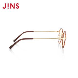 日本睛姿(JINS)儿童防蓝光辐射眼镜 时尚金属圆框平光镜男女学生手机ipad电脑护目镜FPC18A105 86棕色玳瑁