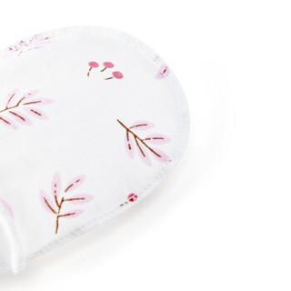 全棉时代(Purcotton)婴儿针织手套脚套手套:10cm*7.5cm 脚套:11cm*7.5cm 嫩果粉叶 2双装