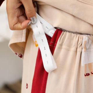 莫代尔长袖月子服孕妇睡衣套装产后哺乳喂奶衣外出孕产妇家居服四季款 白色裙子的朱莉L码(115-135斤穿)