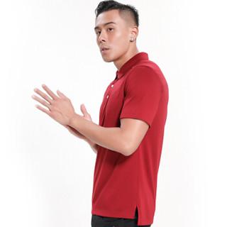 Surefire 神火 T恤POLO衫 男女 19年春夏新款休闲棉感弹力商务短袖  Y020014 暗红色-男款 L