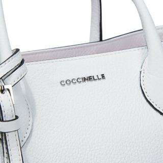 COCCINELLE 可奇奈尔 E1 BP1 18 01 01 010 牛皮荔枝纹女士手提单肩包 (白色)
