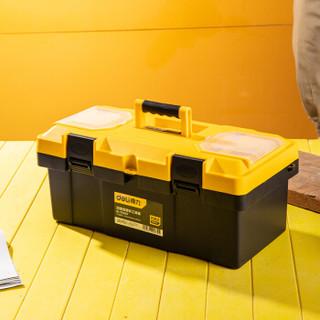 得力(deli) 加厚型工具箱PP塑料收纳箱 车载多功能维修工具盒家用五金收纳盒19英寸 DL-TC290