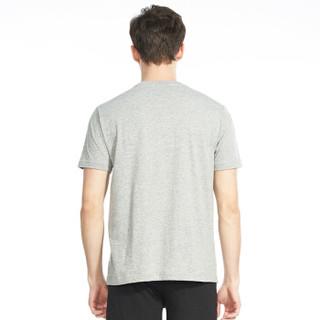 三枪  三枪男T恤2019春夏新品柔棉圆领打底短袖宽松透气棉质男士汗衫 浅麻灰 XL