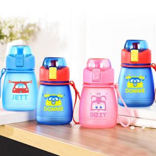超级飞侠 儿童水杯 宝宝学饮杯 男女学生直饮水杯390ML 深蓝色