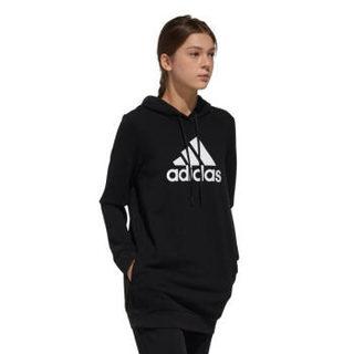 adidas 阿迪达斯 女子训练系列  ISC HOODY LONG 运动 卫衣   EH6492   A/XL码