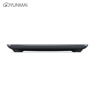 云麦(YUNMAI)轻灵S2体重秤 家用电子秤 高精度健康秤 隐藏式LED灯显示 黑色