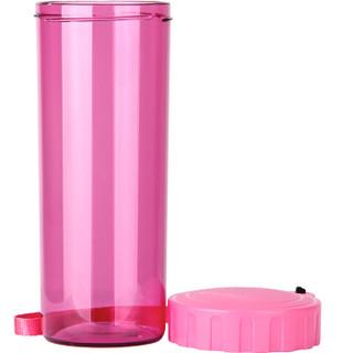 特百惠(Tupperware)莹彩塑料杯随心水杯子430ML  运动密封防漏便携水杯 荔枝红