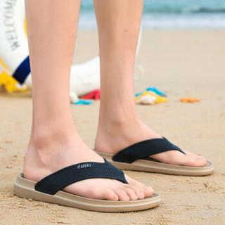Nan ji ren 南极人 男士时尚简约夹脚户外沙滩人字拖鞋 JRLHH835 卡其 43