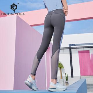 哈他瑜伽服女健身房专业时尚速干运动衣星迹2019新款健身服  长裤(星蓝) S