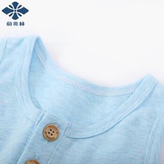 俞兆林 YUZHAOLIN 童装自营儿童家居服套装男女童背心短裤中小童空调服夏季新款睡衣 基础背心-桔色 120