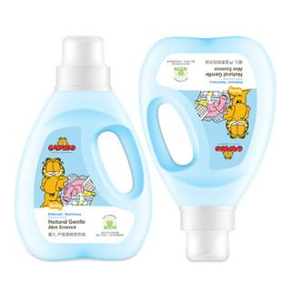 加菲猫(Garfield)婴儿芦荟柔顺洗衣液2kg*4瓶装 新生儿宝宝衣物尿布清洗液 儿童柔顺洗衣剂套装