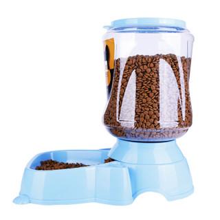疯狂的小狗 宠物用品狗碗喂水器狗狗饮水器猫碗狗盆食具水具 自动喂食器4L 蓝色