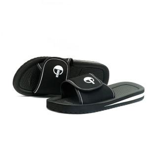 GieniG 家居软底家用浴室洗澡防滑室内休闲凉拖鞋男款 GI171302 黑色 43码