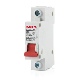 泰力TLYB1-125-1P80A断路器家用空气开关空开家用总闸总开关过载短路保护白色