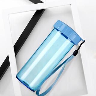 特百惠(Tupperware)莹彩塑料杯随心水杯子430ML  运动密封防漏便携水杯 晴空蓝