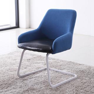 苏美特接待椅洽谈椅 会客椅办公室休闲钢架椅子优质绒布SMT-1832