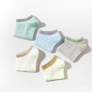 宝娜斯(BONAS)儿童袜子男童女童宝宝网眼棉袜春夏五双装  1-12岁 B18151 S 建议( 4-6岁 脚长16-18cm)