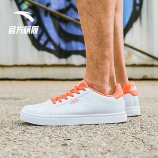 ANTA 安踏 生活系列 男士运动板鞋 91628004 安踏白/荧光热力橙 40.5