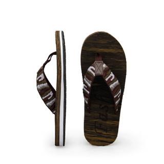 Nan ji ren 南极人 男士时尚简约夹脚户外沙滩人字拖鞋 043WPS5602 棕色 40