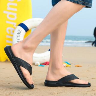 Nan ji ren 南极人 男士时尚简约夹脚户外沙滩人字拖鞋 JRLHH835 黑色 40