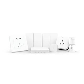 AQARA智能卧室套装 空调伴侣+温湿度传感器+人体传感器+墙壁开关+无线开关+墙壁插座 7件礼品装
