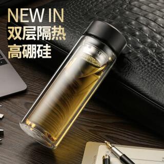 佳佰 高硼硅玻璃杯 320ml 黑色 40只