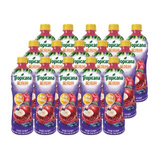 果缤纷 蓝莓石榴味 果汁 饮料 500ml*15瓶 整箱装 百事可乐出品