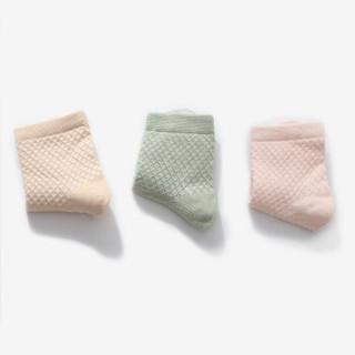 宝娜斯(BONAS)儿童袜子男童女童宝宝网眼棉袜春夏五双装 1-12岁 G18155     4-6岁
