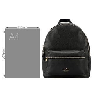 COACH 蔻驰 奢侈品 女士黑色皮质双肩背包 F30550 IMBLK