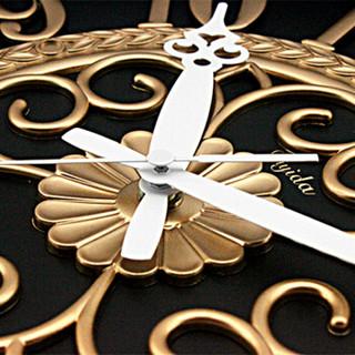 帝易达 (Diyida)23英寸大挂钟欧式客厅时尚时钟静音个性挂表酒店办公室创意石英钟表66169A