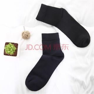J.ZAO 京造 男士三双装棉袜 企业采购 黑色 均码