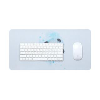 BUBM 鼠标办公室桌垫可爱卡通笔记本电脑垫键盘垫办公写字台桌垫游戏家用女生男 小号熊猫 BGZDL-KT
