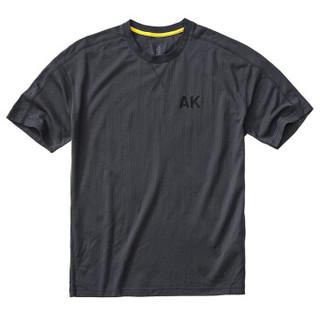 AK男装 (AKSERIES)都市特工简约落肩短袖T恤1800048 灰色 S