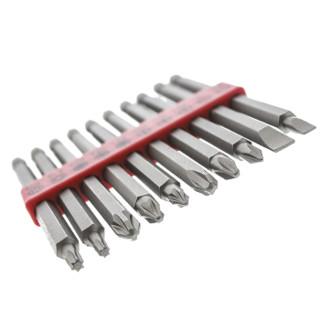 RS Pro欧时 10件装 一字:4.5、7 mm;Phillips:PH1、PH2、PH3;Pozidriv:PZ1、PZ2、PZ3;Torx:T15、T20