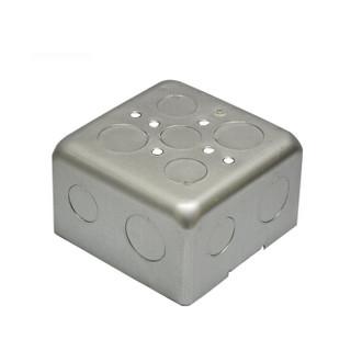飞利浦(PHILIPS)开关插座面板 地插配套底盒 铝合金材质 10只装