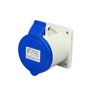 ZNG 32a3p暗装工业插座323 250V3孔32a单相发电机组插座 5个装ZNG-323