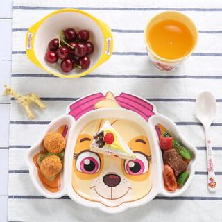 希尔(SHALL)天天儿童餐具宝宝密胺餐具套装婴儿辅食碗杯子勺子四件套WW6634