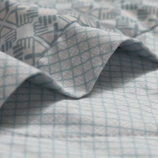 富安娜家纺 100%桑蚕丝夏被空调被60S长绒棉面料可水洗夏凉被子高档礼品 杜伊斯堡1米8/2米床(230*229cm)绿