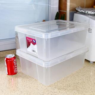 A+家生活10L衣物零食玩具厨房车用塑料收纳盒整理箱3189蓝色盖2只装