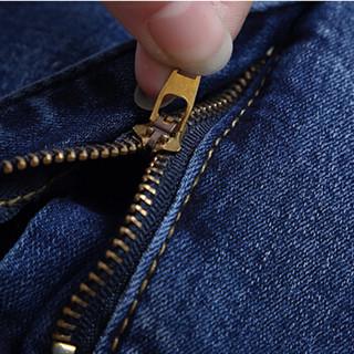 米兰茵(MILANYIN)2019春夏新款高腰牛仔裤女刺绣紧身小脚裤女士裤子 ML19426 深蓝色 EUR30
