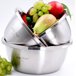 创得 (DASTRUST)304不锈钢盆 加深加厚汤盆面盆 圆形料理调料盆 洗菜盆打蛋盆 304不锈钢盆18cm