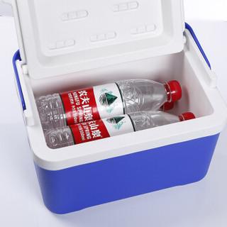 欧宝森保温箱冷藏箱 户外车载便携保鲜箱 6升蓝色 保冷保热两用  送5个注水冰袋